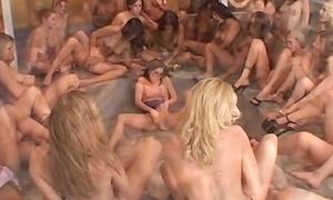 Lesbian ripple bukkake
