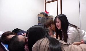 Four schoolgirls acquiesce in adjacent to your home