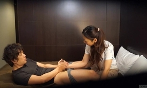 Japanese hostelry massage not present revilement subtitled to hd