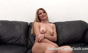 Elephantine hunger flaxen-haired painful anal and creampie casting