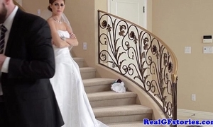 Stunning bride facialized wits their way photographer