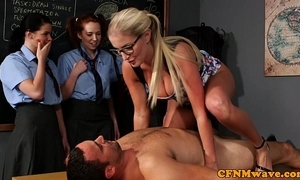 Cfnm sex education alien the school be fitting of eager gals