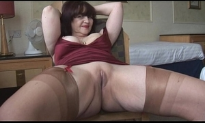 Chunky soul mature panty play with the addition of striptease
