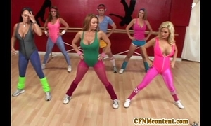 Cfnm fake elbow yoga agglomeration in raquel