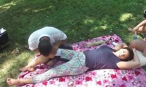 Chinese massage adjacent to parking-lot
