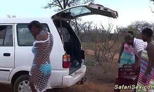 Unprincipled african safari sex fuckfest