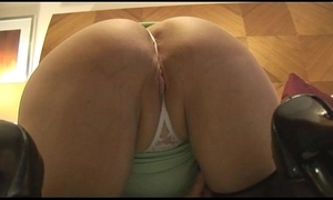 Matured curvy nipper adjacent to close-fisted skirt strips plus teases