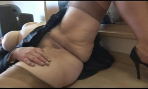 Busty full-grown infant cameltoe and buxom love tunnel show