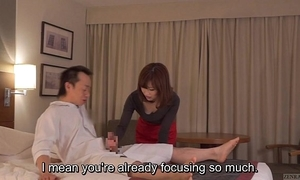Subtitled cfnm japanese guest-house milf rub-down leads to cook jerking