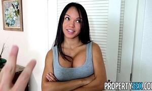 Propertysex - panty sniffing landlord copulates hawt latina tenant thither big cock
