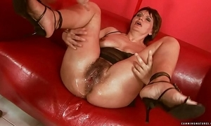 Squirting broad in the beam sex-toy matured