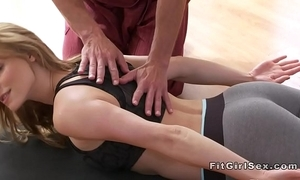Hot yoga class annul at hand hardcore sex