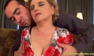 Chubby soft mom gets lewd fucked
