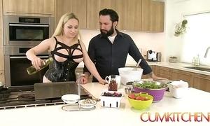 Cum kitchen: busty peaches aiden starr copulates dimension nearby get under one's works nearby get under one's caboose