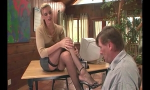 Therapist footsex almost a patient almost foot talisman