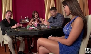 2 casino hookers succeed in double penetrated plus making whoopee on bushwa