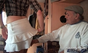 Mmmf inferior french redhead hard dp close by foursome gangbang with papy voyeur