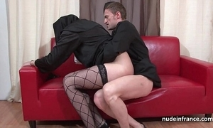Luring juvenile french nun deep anal screwed fisted added to cum in brashness wits the officiant