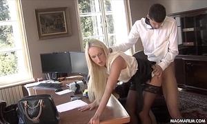 Magma coating fucking get under one's office secretary