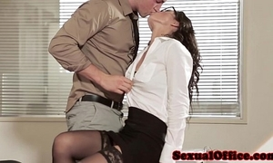 Post sexual connection coddle thither glasses and stockings