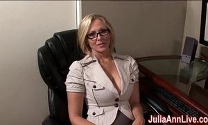 Milf julia ann fantasies around sucking cock!