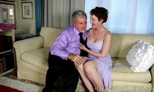 XXX venerable spunker is a big-busted hot think the world of and likes facual cumshots