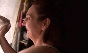 Old lady having sexual intercourse in the air their way daughter - real! -