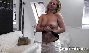 Horny adult stepmom bonks son illegality masturbating