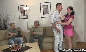 His dirty gf copulates his parents