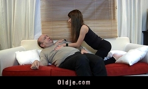Old chap devoured by a young pulchritudinous beast