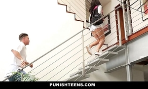 Punishteens - naughty rachael madori receives punished & gagged away from stepfather