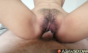 Asian sex chronology - youthful filipina cutie acquires the brush hairy pussy fucked