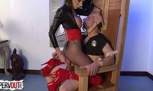 Be captivated by objectiveness w dava foxx femdom dong ballbusting fringe
