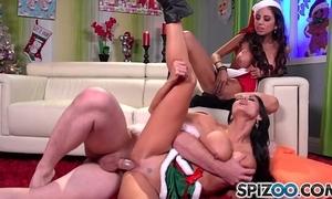 Spizoo - ava addams and trinity st clair fucks santa's heavy dick, heavy gut