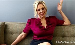 Super blonde crammer julia ann copulates herself!