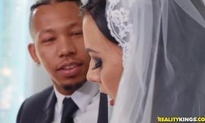 Shameless better half rubs say no to clitoris during interracial anal