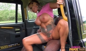 Curvy female taxi driver acquires screwed by big inky blarney