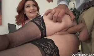 Curvy schoolgirl all over nylons shagged wits brutal superannuated principle