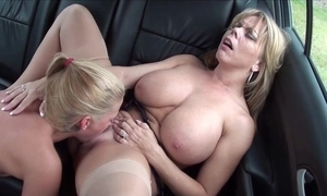 Amber Lynn Bach pleasuring oversexed lesbian relating to dramatize expunge railway carriage